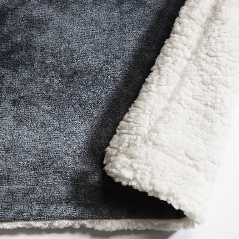 Gallery Direct Sherpa Throw Grey