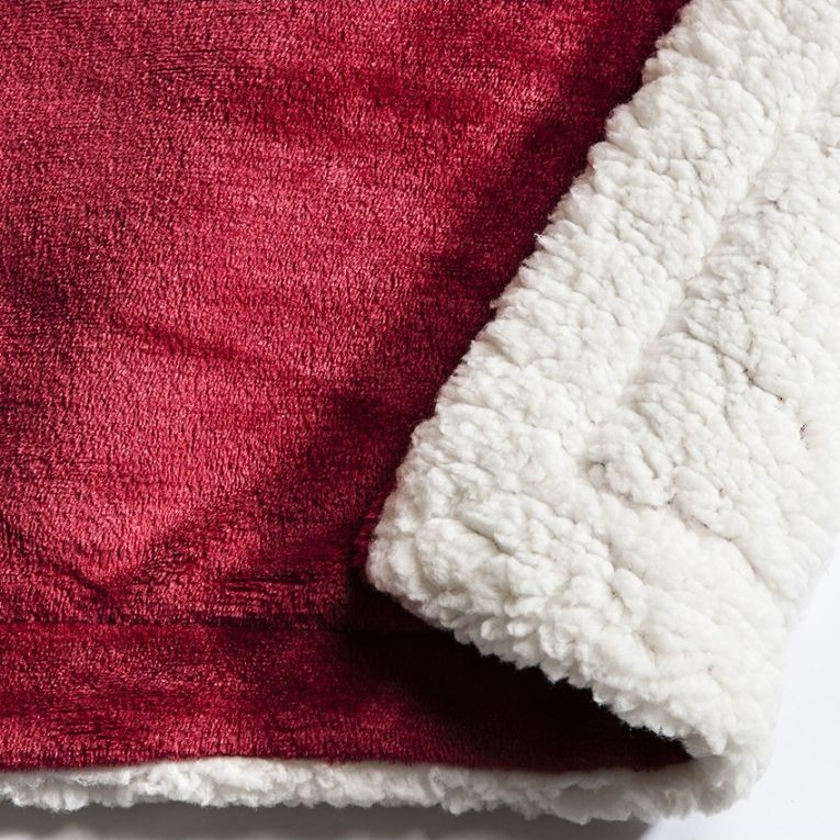 Gallery Direct Sherpa Throw Red