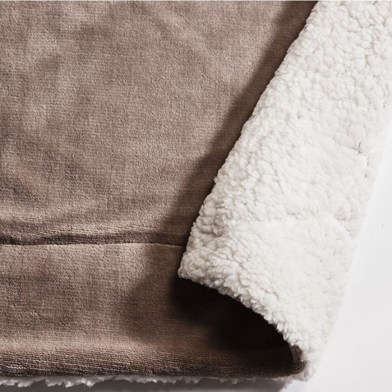 Gallery Direct Sherpa Taupe Throw