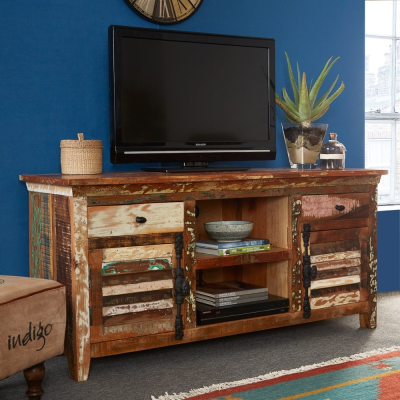 Indian Hub Coastal Reclaimed Wood Multi Media Unit