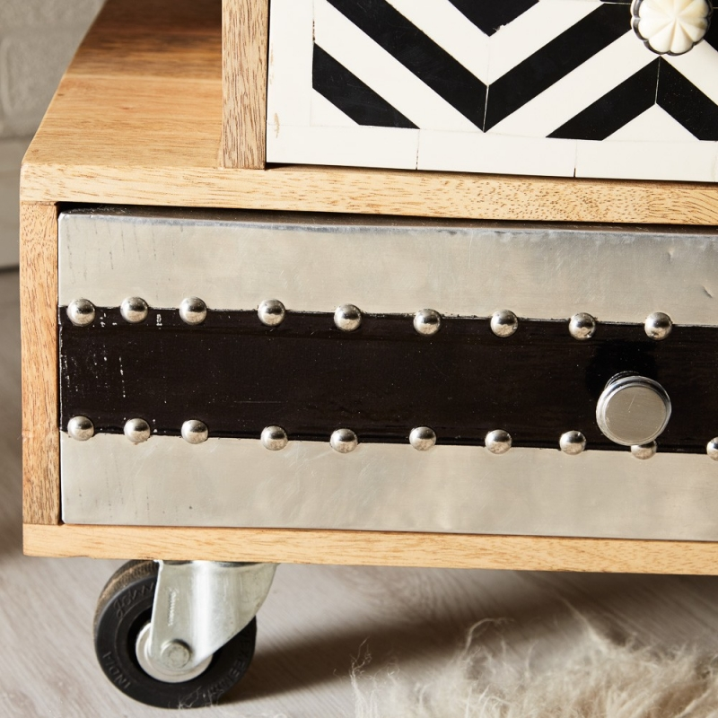 Indian Hub Sorio Small 5 Chest of Drawer