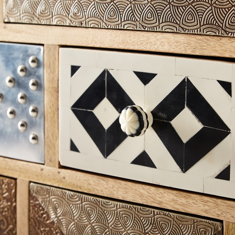 Indian Hub Sorio Multiple Drawer Chest