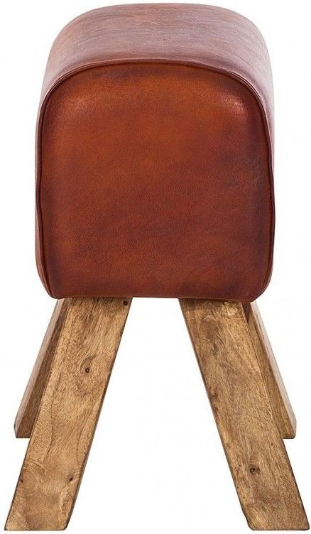 Indian Hub Stool Turn Buck Genuine Leather Stool