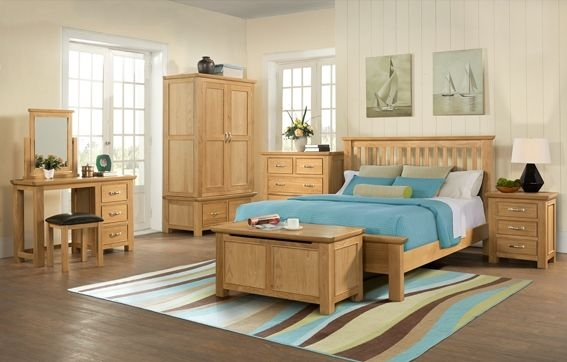 Devonshire Siena Oak Bed - Low Foot End
