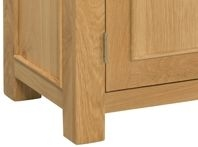 Devonshire Siena Oak Bedside Cabinet - 3 Drawer