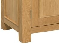 Devonshire Siena Oak Console Table - Small 1 Drawer