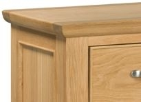 Devonshire Siena Oak Console Table - 2 Drawer