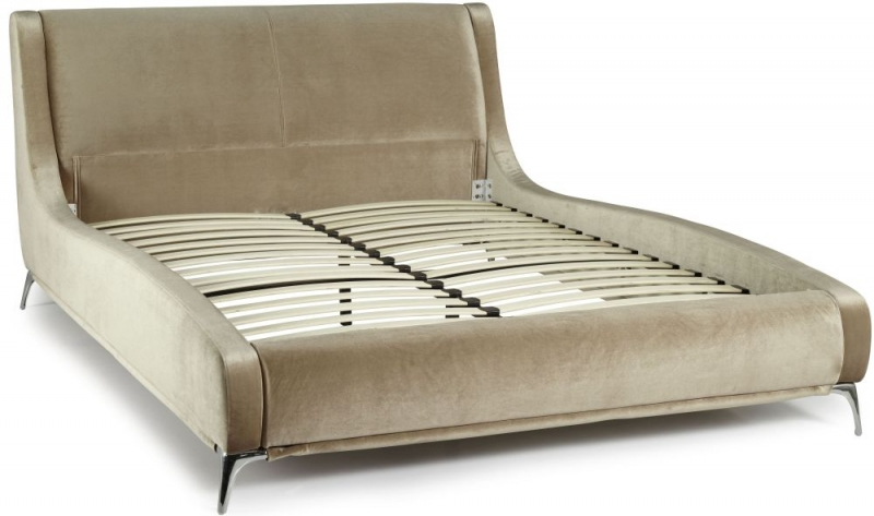 Serene Faye Gold Fabric Bed