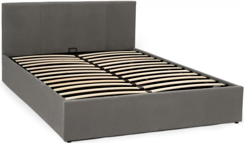 Serene Evelyn Steel Fabric Ottoman Bed