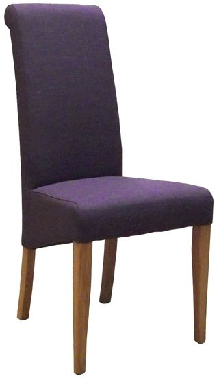 Devonshire New Oak Mauve Fabric Dining Chair (Pair)