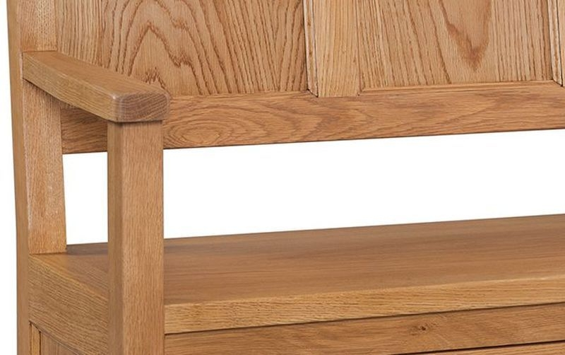 Devonshire Somerset Oak Monks Storage Bench