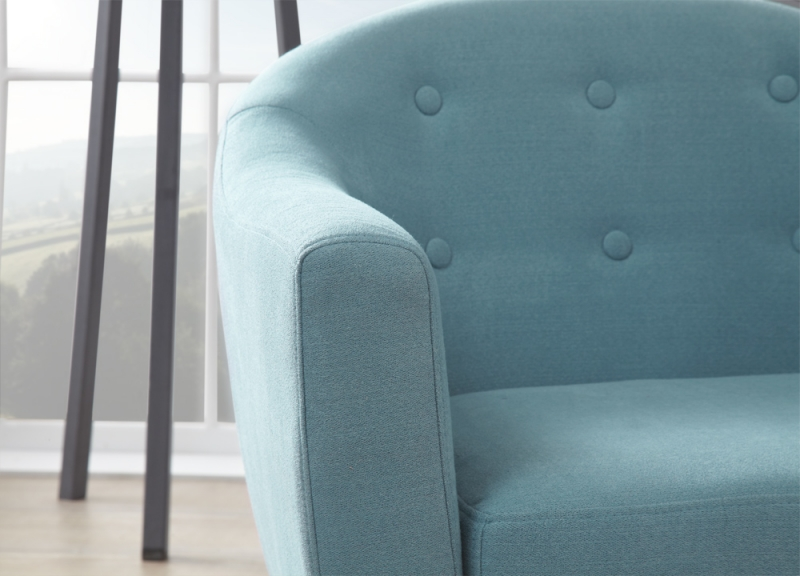 Serene Evie Duck Egg Fabric Armchair