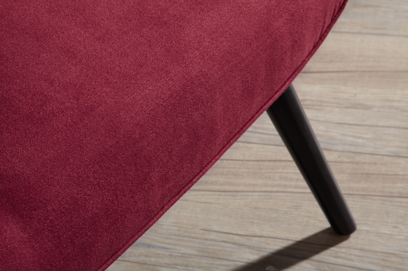 Serene Oban Red Fabric Chair