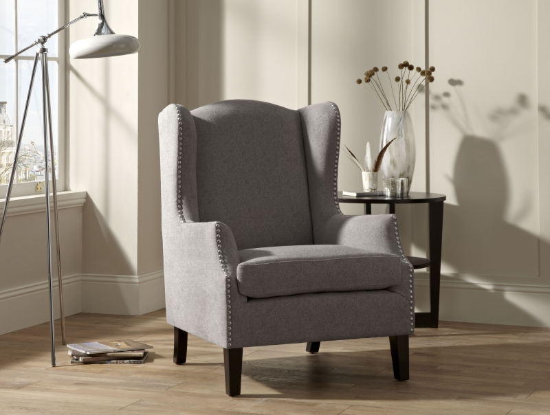 Serene Stirling Silver Fabric Chair