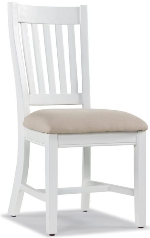 Ashmore Slatted Back Dining Chair with Neutral Seat Pad (Pair)