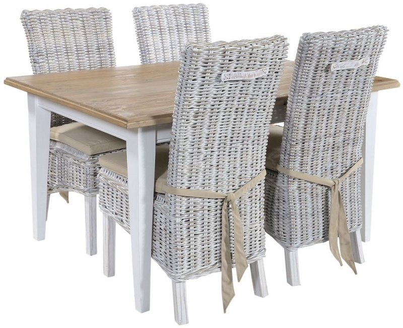 Rowico Lulworth White Brush Dining Table