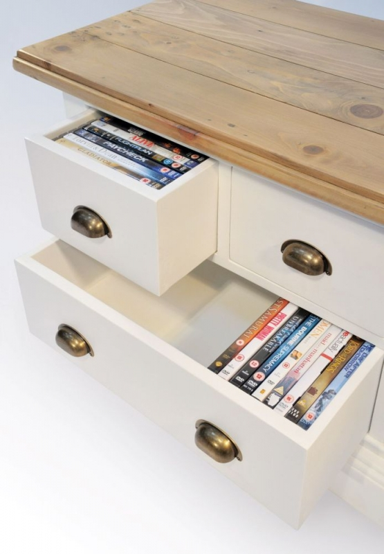 Rowico Lulworth White Brush TV Unit