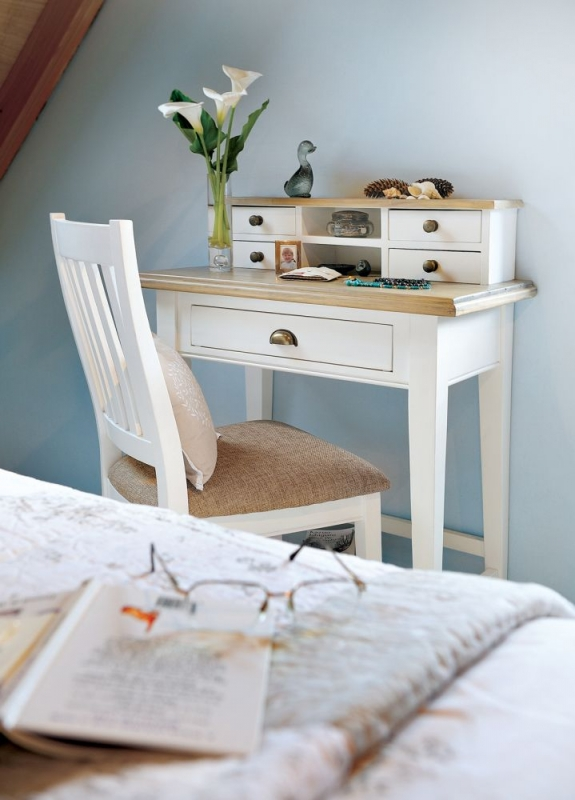 Ashmore White Brush Writing Desk