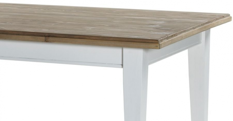 Rowico Lulworth White Dining Table and 4 Slatted Chairs