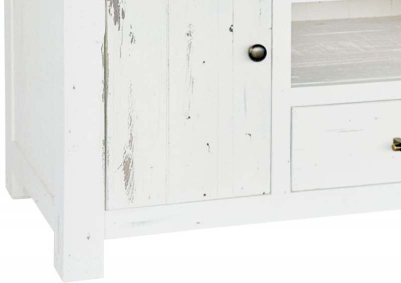 Rowico Purbeck Distressed White 2 Door 1 Drawer TV Unit