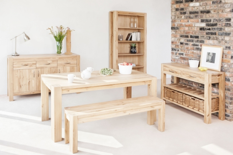 Qualita Goliath Oak Dining Bench - 180cm