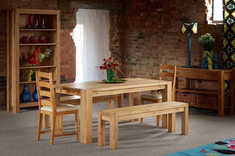 Qualita Goliath Oak Dining Bench - 220cm