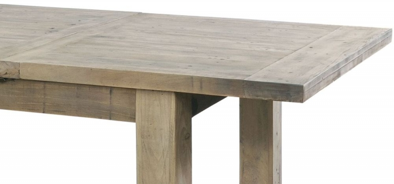 Rowico Saltash Reclaimed Pine 140cm-190cm Extending Dining Table and 4 Adelf Grey Chairs