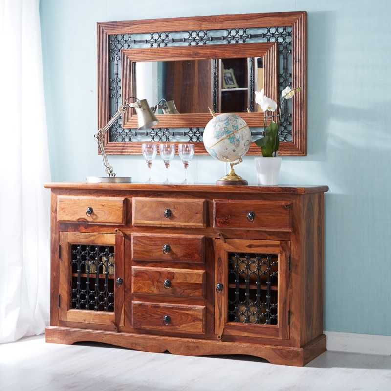 Indian Hub Jali Sheesham Large Sideboard