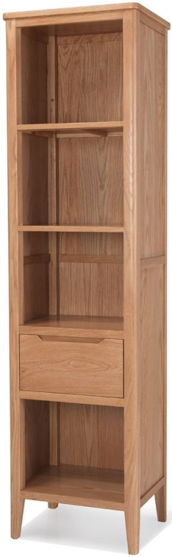 Asby Oak Slim Bookcase