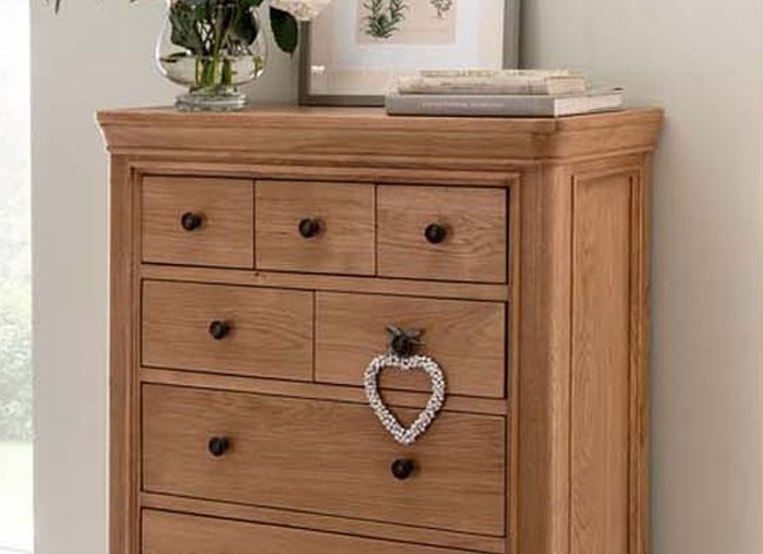 Vida Living Carmen Oak 8 Drawer Tall Chest