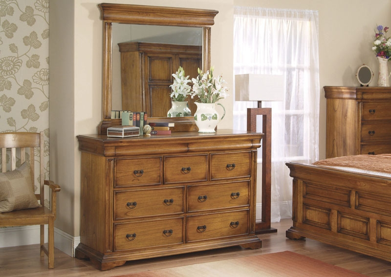 Vida Living Valentino Oak Chest of Drawer - 3 Over 4 Drawer