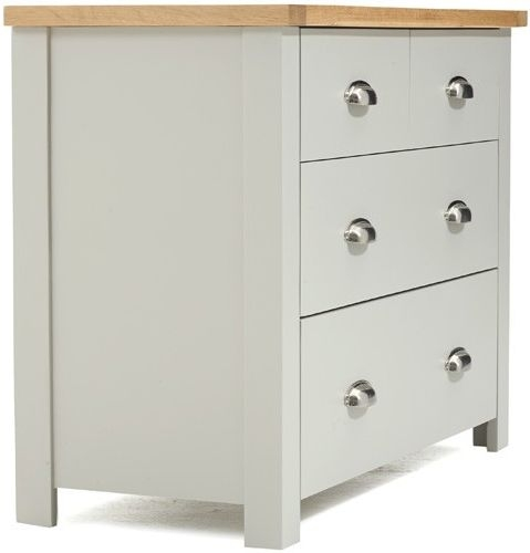 Mark Harris Sandringham Oak and Grey 2 Over 2 Chest of Drawer