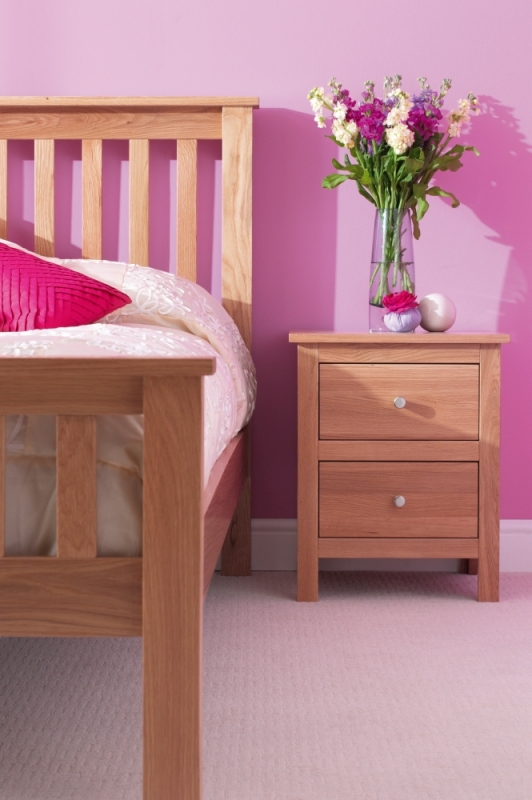 Corndell Nimbus Oak 2 Drawer Bedside