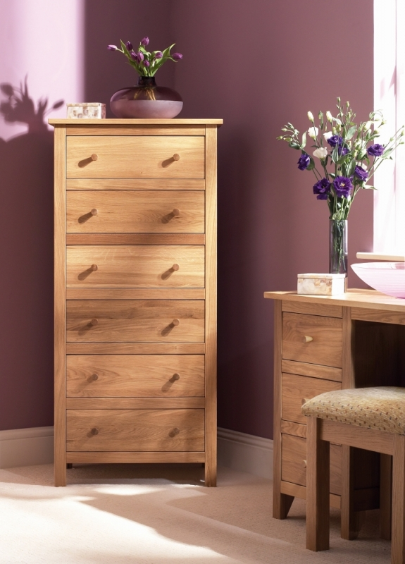 Corndell Nimbus Oak 6 Chest of Drawer