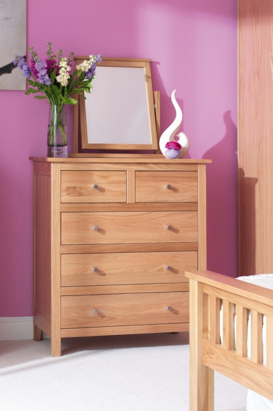 Corndell Nimbus Oak 2+3 Chest of Drawer