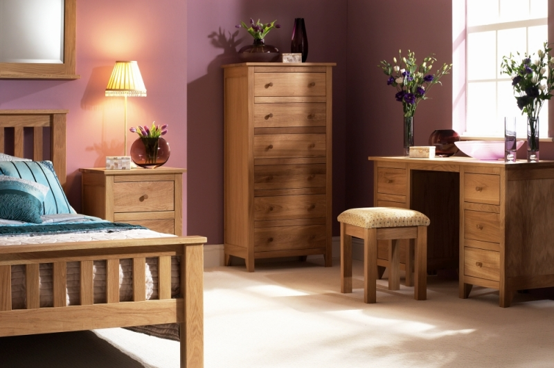 Corndell Nimbus Oak Twin Pedestal Dressing Table