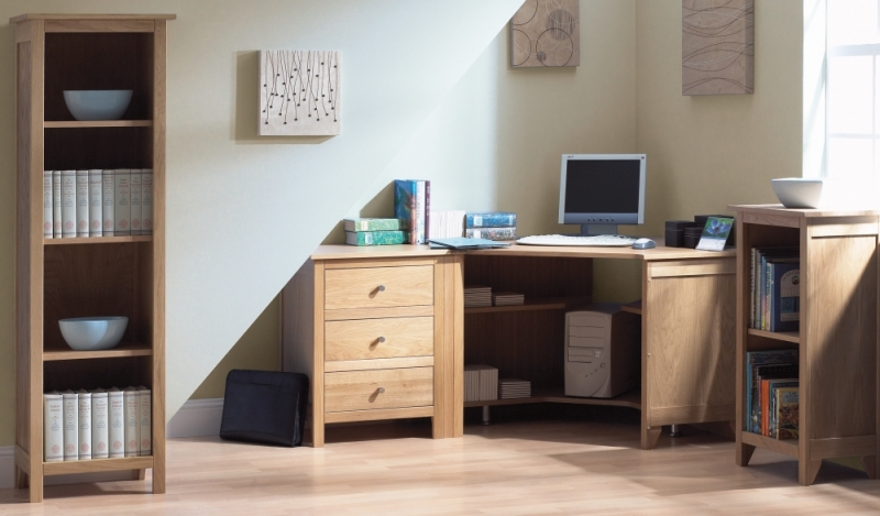 Corndell Nimbus Oak 3 Drawer Cabinet