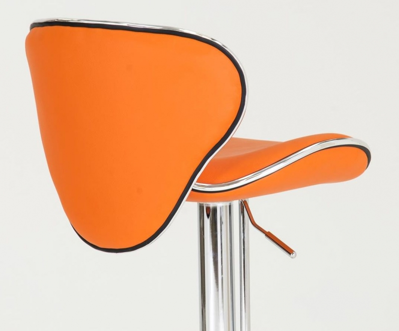 Vida Living Nigella Orange Leather Bar Stool