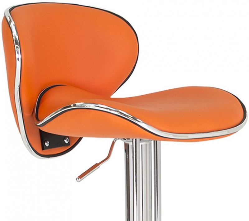 Vida Living Nigella Bar Stool - Orange Leather