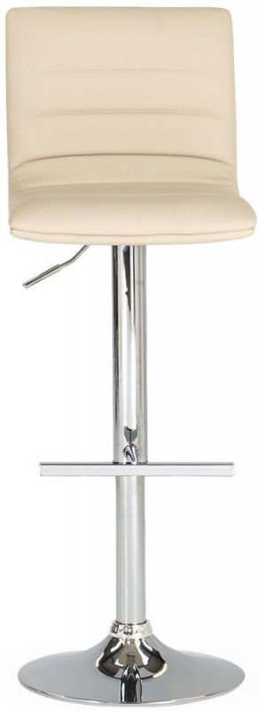 Vida Living Retro Bar Stool (Pair) - Ivory Leatherette