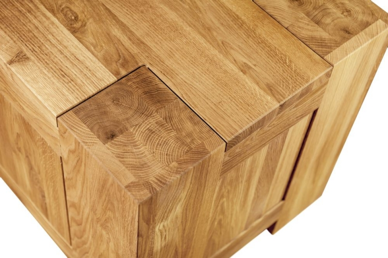 Clemence Richard Massive Oak Wide 3 Drawer Chest of Drawer
