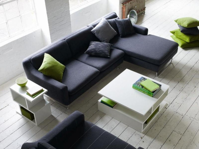 Content by Terence Conran Aspen 3 Seater with 1 Arm Fabric Sofa