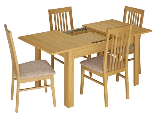 Kingstown Dalby Oak Dining Set - Large Extending