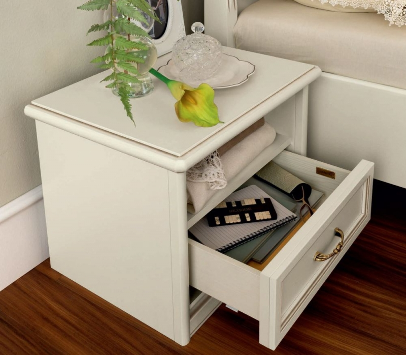 Camel Nostalgia Ricordi Bedside Table - 1 Drawer