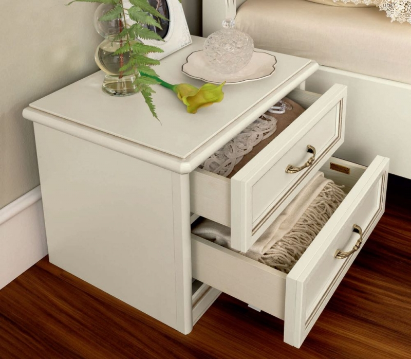 Camel Nostalgia Ricordi Bedside Table - 2 Drawer