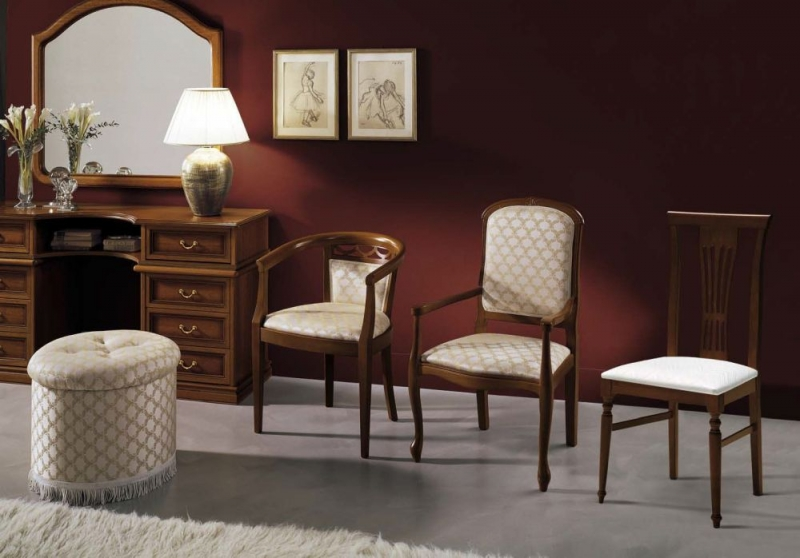 Camel Nostalgia Night Walnut Italian Bedroom Armchair