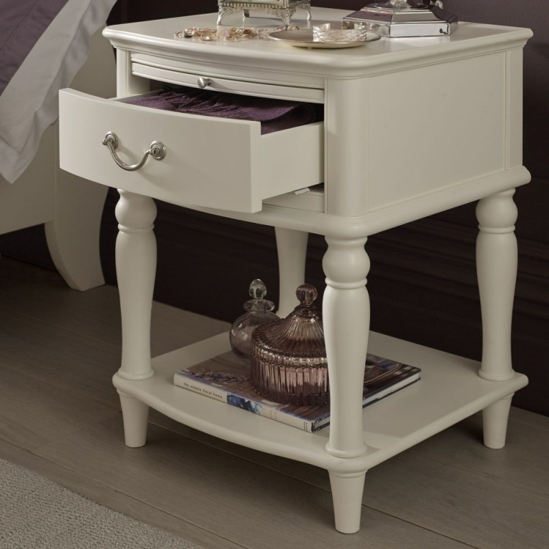 Bentley Designs Bordeaux Ivory Bedside Table - 1 Drawer
