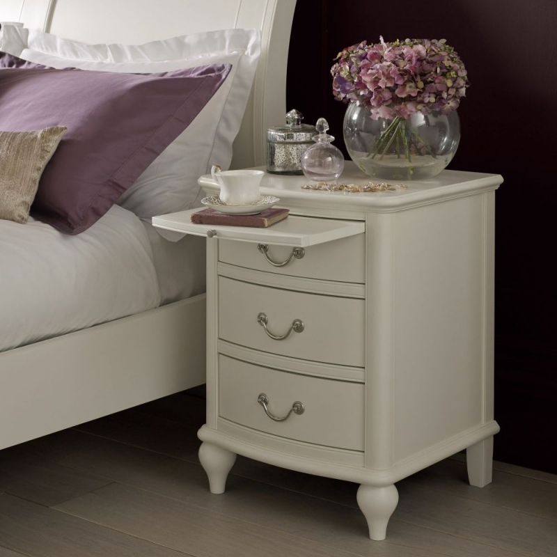 Bentley Designs Bordeaux Ivory Bedside Cabinet - 3 Drawer