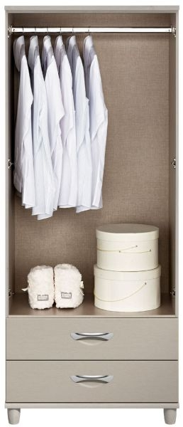 Berkeley Cashmere Gents Wardrobe - 2 Door 2 Drawer