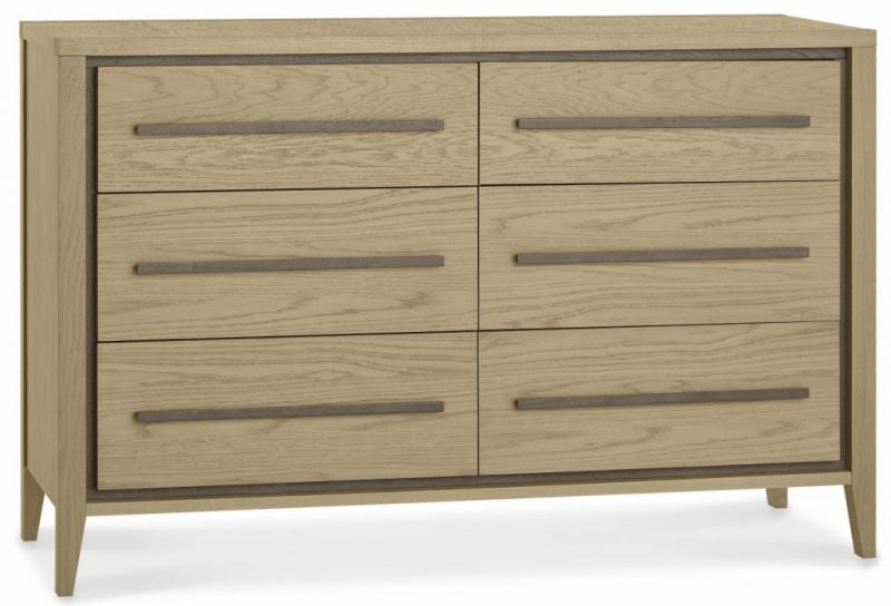 Bentley Designs Rimini Aged and Weathered Oak Chest of Drawer - 6 Drawer